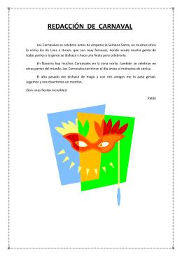 redacción de carnaval - Colegio Santa Luisa de Marillac
