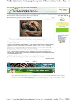 Page 1 of 1 Periódico Digital Puebla