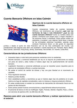 Cuenta Bancaria Offshore en Islas Caimán