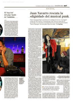 Juan Navarro rescata la «dignidad» del musical punk