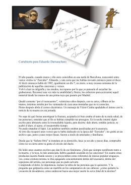 Cartabierta para Eduardo Darnauchans: