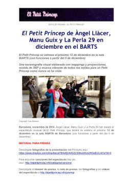 El Petit Príncep de Àngel Llàcer, Manu Guix y La Perla 29 en
