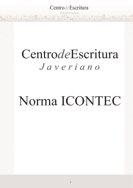 Norma ICONTEC - Pontificia Universidad Javeriana, Cali