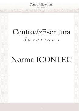 Norma ICONTEC - Pontificia Universidad Javeriana, Cali