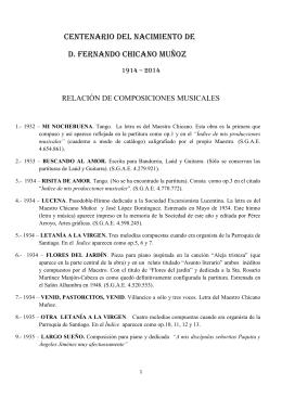 Repertorio musical de Fernando Chicano Muñoz