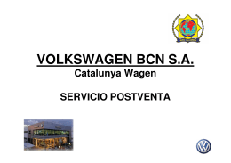 VOLKSWAGEN BCN S.A.