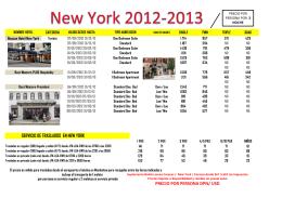 HOTELES EN NEW YORK 3 2012-2013