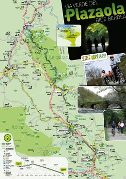 Plazaola bide berdearen mapa Bide berdearen 50 kilometro detaile