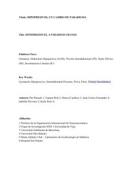 Título: HIPOPRESIVOS, UN CAMBIO DE PARADIGMA Title
