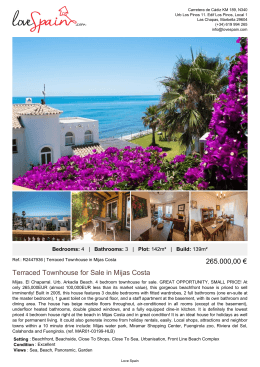 Terraced Townhouse for Sale in Mijas Costa