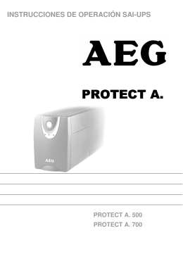 Manual for PROTECT A.500/700 (ES)