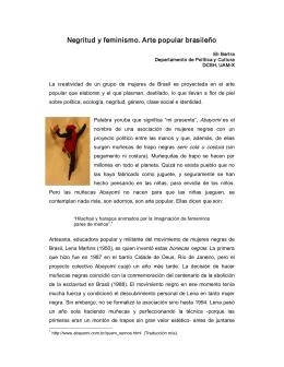 Negritud y feminismo. Arte popular brasileño