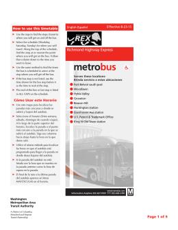 REX - Washington Metropolitan Area Transit Authority