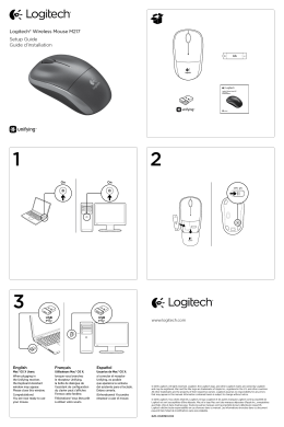 Logitech® Wireless Mouse M217 Setup Guide Guide d`installation