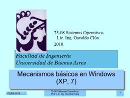 Mecanismos Windows - Universidad de Buenos Aires