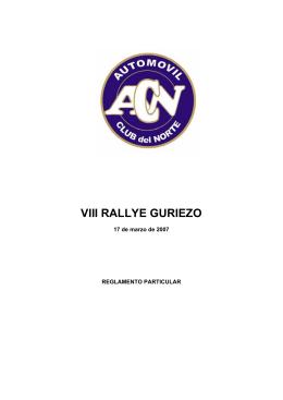 VIII RALLYE GURIEZO