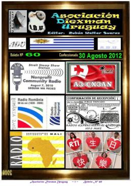 Asociación Diexman Uruguay ~ 1 ~ Boletin Nº 60