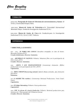 Curriculum Chon 2014