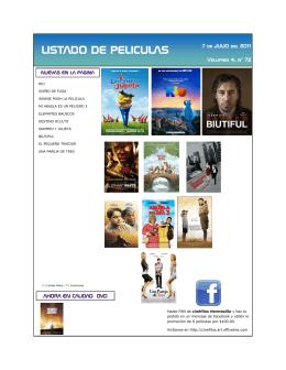 LISTADO DE PELICULAS - Cinefilos de Hermosillo