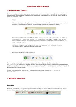 Tutorial de Mozilla Firefox