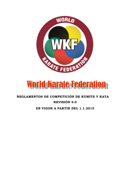 Reglamento Kumite y Kata - World Karate Federation
