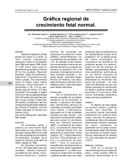 Gráfica regional de crecimiento fetal normal.