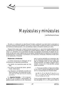 Mayúsculas y Minúsculas. José Martínez de