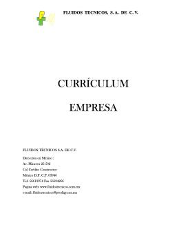 CURRÍCULUM EMPRESA