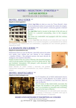 Lista Hotels 2 Estrellas