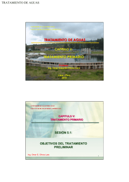 tratamiento de aguas tratamiento primario