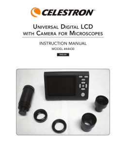 universal digital lcd with camera for microscopes