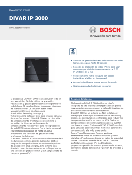 DIVAR IP 3000 - Bosch Security Systems