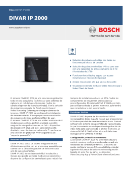 DIVAR IP 2000 - Bosch Security Systems
