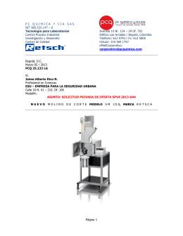 0 Tecnología para Laboratorios Avenida 15 Nr. 124 – 29 Of. 702