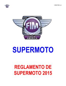 REGLAMENTO DE SUPERMOTO 2015