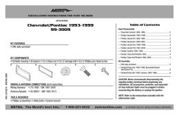 Chevrolet/Pontiac 1993-1999 99-3009