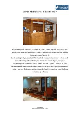 Hotel Montecarlo, Viña del Mar