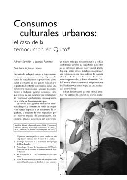 Consumos culturales urbanos: el caso de la tecnocumbia