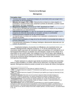 Tumores de las Meninges: Meningioma