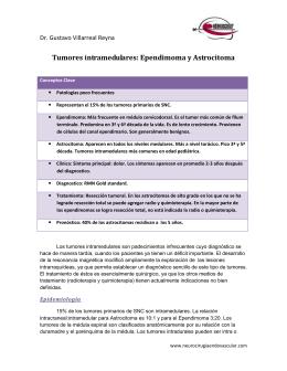 Tumores intramedulares - Neurocirugia Endovascular