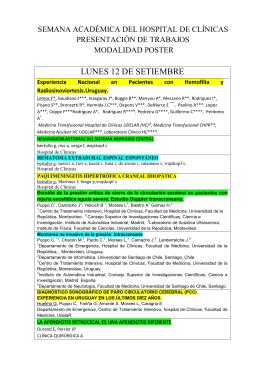 lunes 12 de setiembre - Comité de Investigación Científica
