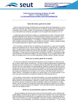 Sermones y Bosquejos - Facultad de Teología SEUT