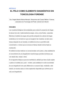 el pelo como elemento diagnòstico en toxicologia forense