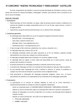 """iv concurso """"nuevas tecnologías y videojuegos"""" castellón"""