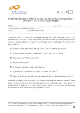 Información a la Representación Legal de los Trabajadores (RLT)