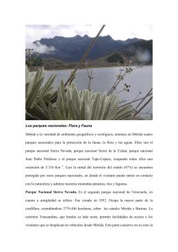 Los parques nacionales: Flora y Fauna