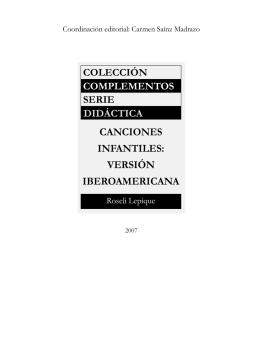 Canciones Infantiles versión iberoamericana