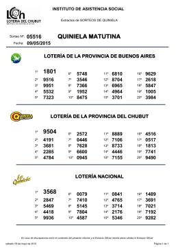 QUINIELA MATUTINA 1801 9504 3568