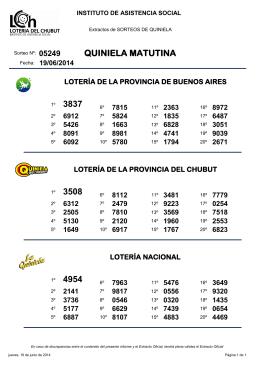 QUINIELA MATUTINA 3837 3508 4954