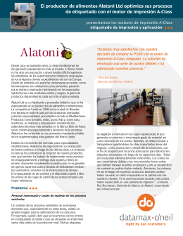 El productor de alimentos Alatoni Ltd optimiza sus - Datamax